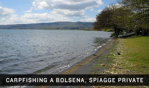 Carpfishing a Bolsena. Enduro con spiagge private e minacce.
